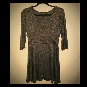Grey V-neck Tunic